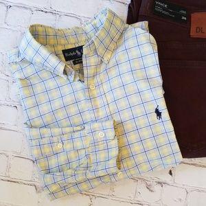 Ralph Lauren Classic Fit Yellow Checkered Shirt